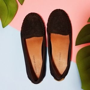 Lucky Brand Black Moccasin Loafer Shoes